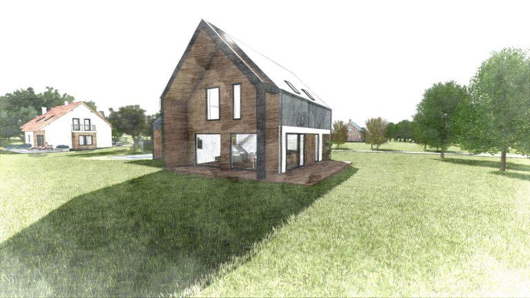 """Dom w stylu """"stodoły"""""""